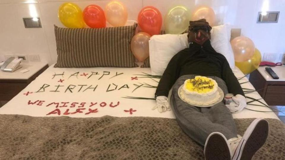 Hotel staff created this effigy as a misguided tribute to a parent's dead son