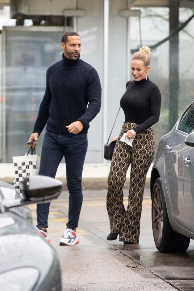 Rio Ferdinand and Kate Wright stopped off for petrol in Kent