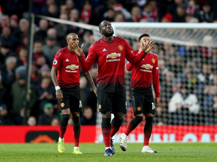 The Belgian broke his duck as United recorded a fine win at home
