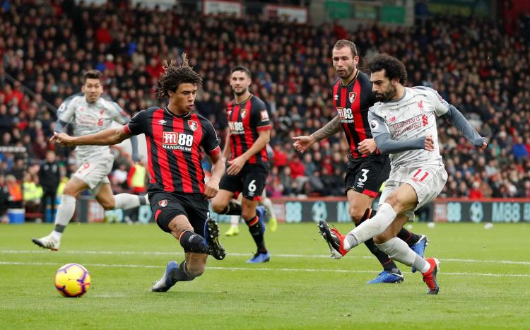 Mo Salah hit a hat-trick to send Liverpool top of the Premier League