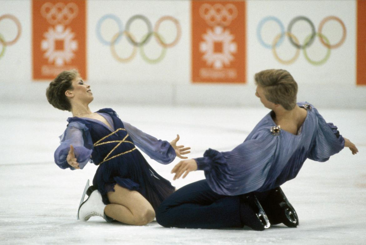 Gemma said she could be as good as Chris and his skating partner Jayne Torvill - pictured here at the 1984 Winter Olympics