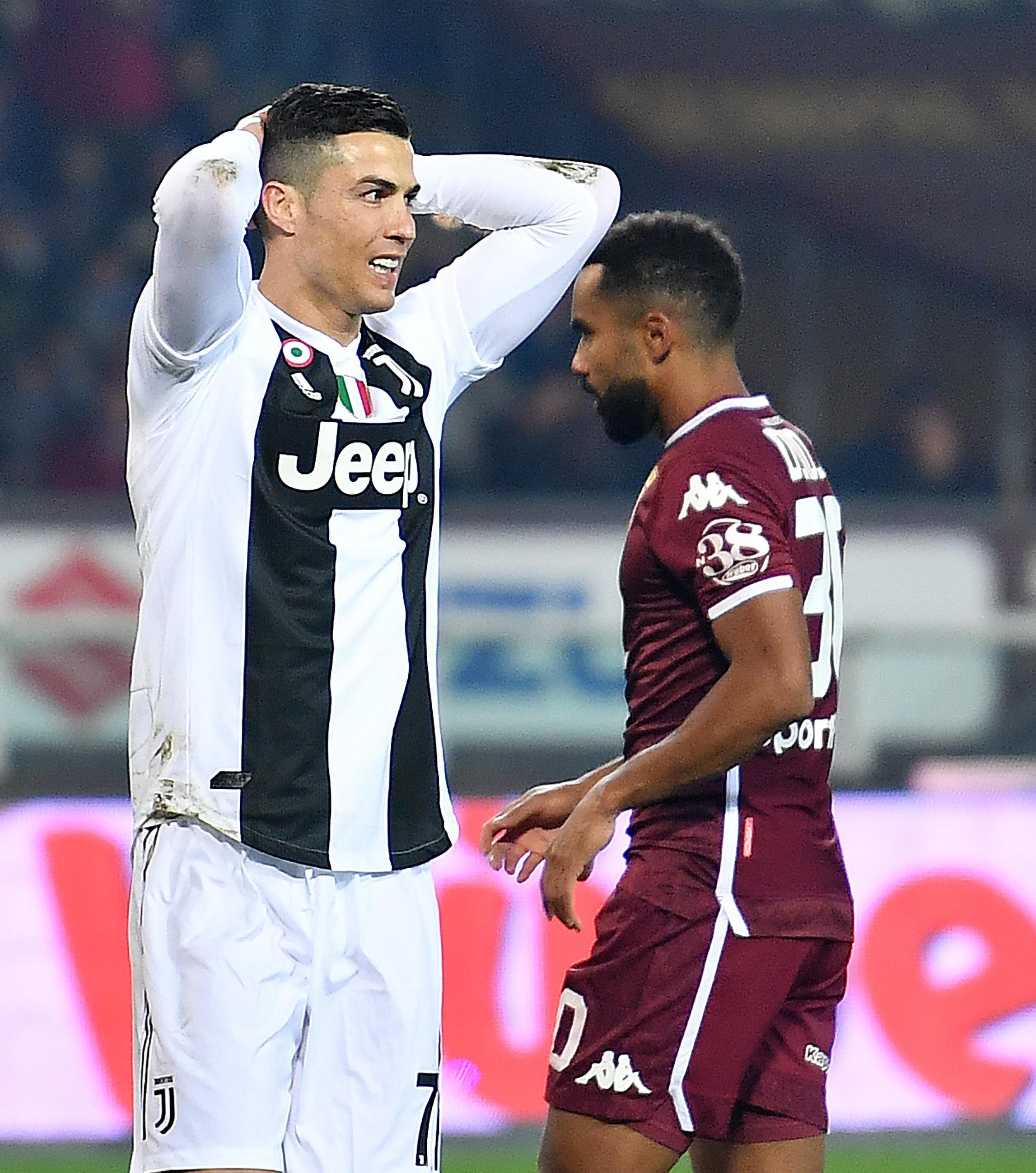 Ronaldo had a mixed night as Juventus edged out Torino