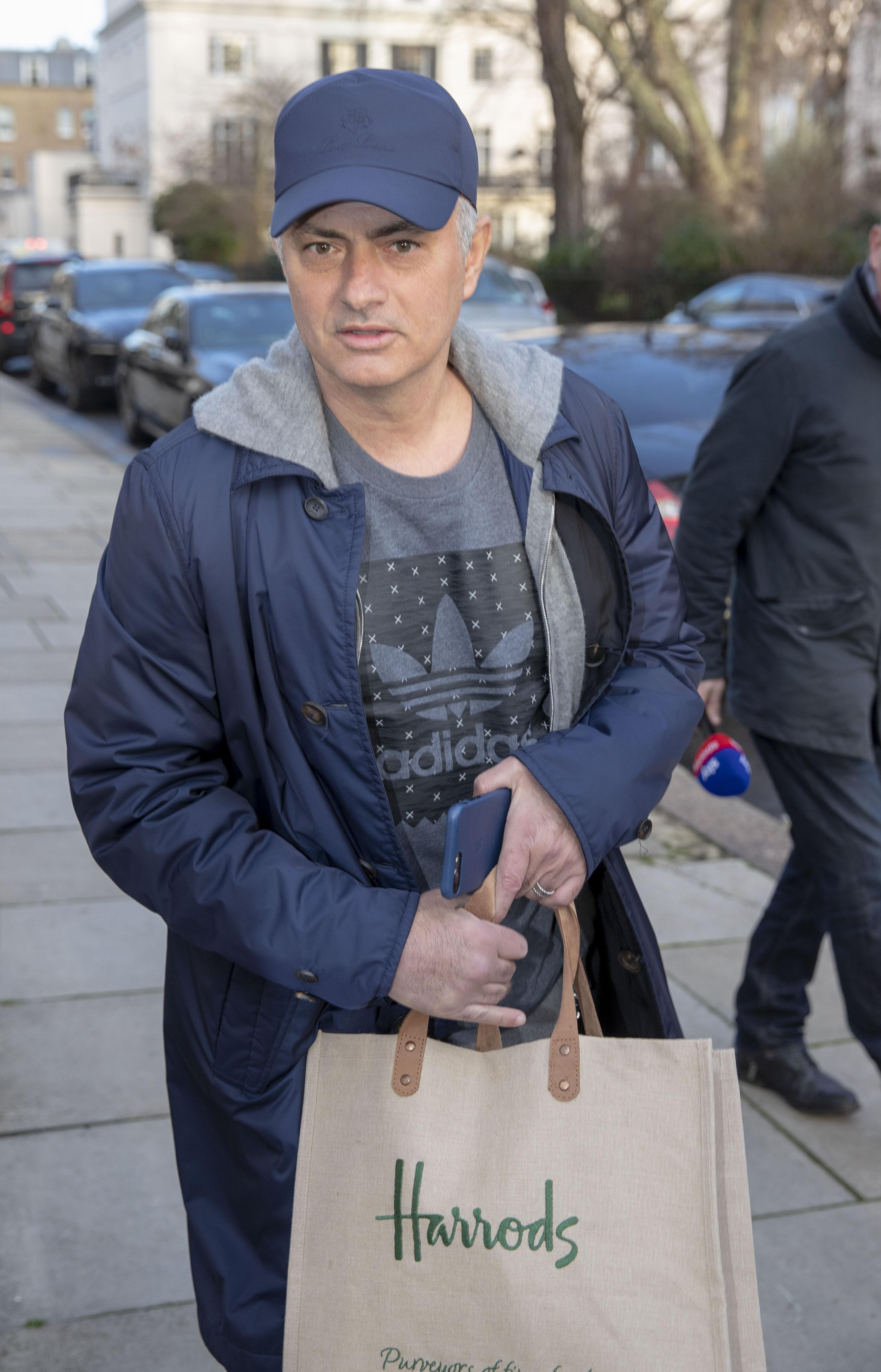 Jose Mourinho walks around London after being sacked from Manchester United
