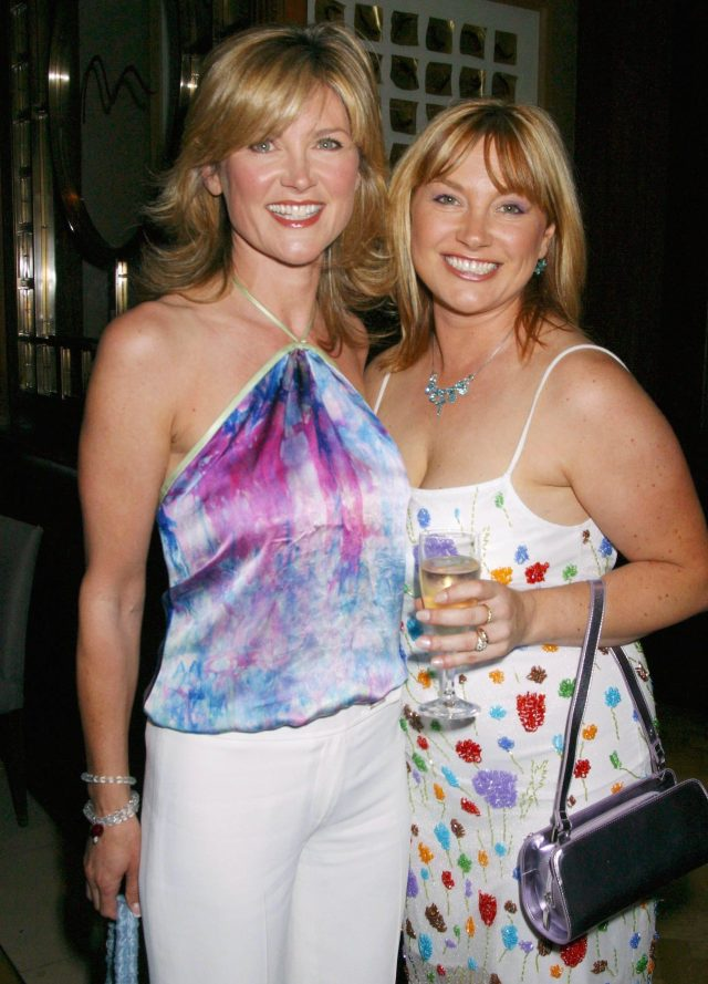 Anthea Turner's sister Wendy, pictured here on the right, was homeless after racking up debts