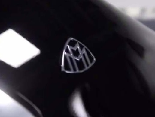 The Mercedes-Maybach logo shines proudly on the limousine