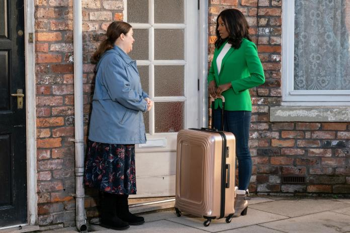 Mary said goodbye to Angie in Coronation Street