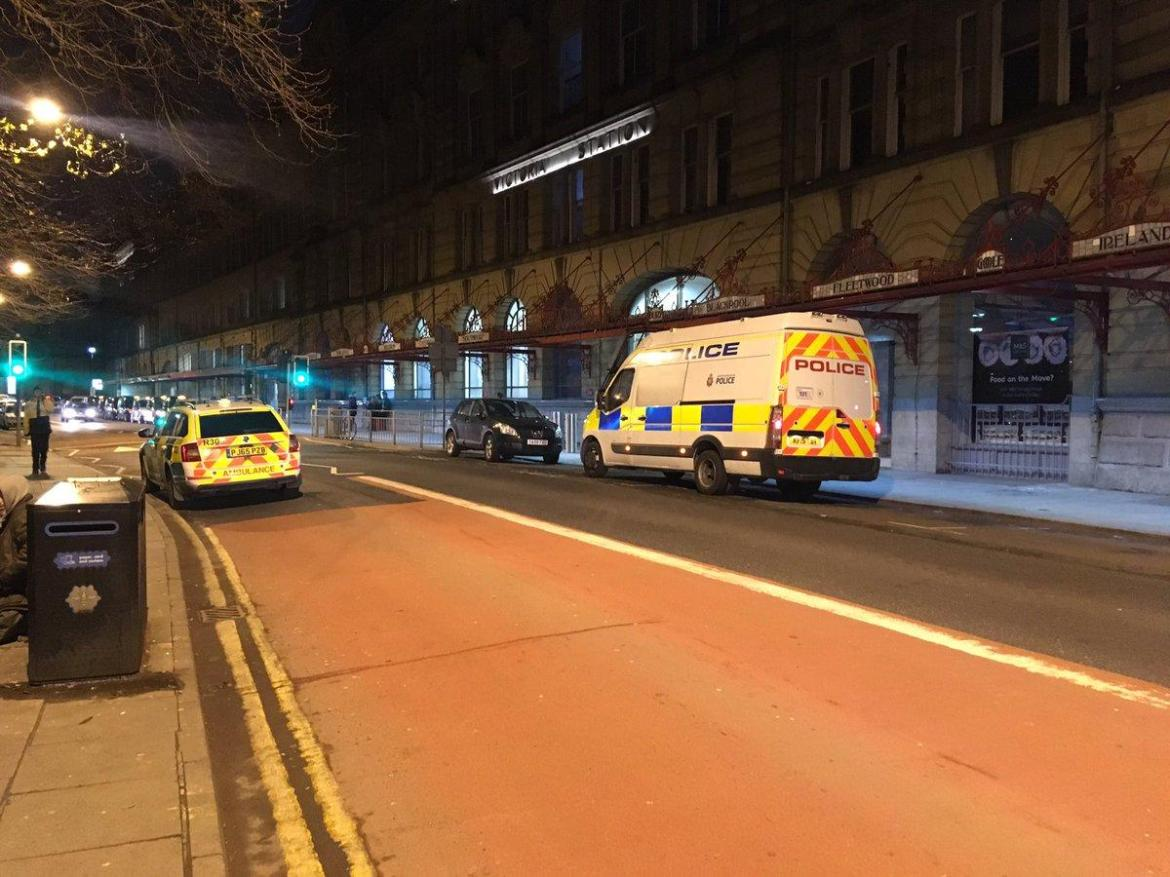 British Transport Police confirmed three people, including a police officer, were injured in the stabbing