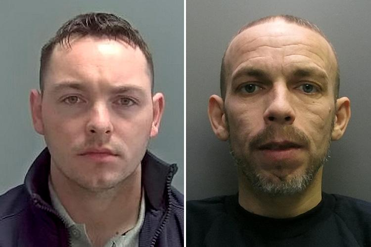 Johnny Oakley, left, was jailed for five-and-a-half years and