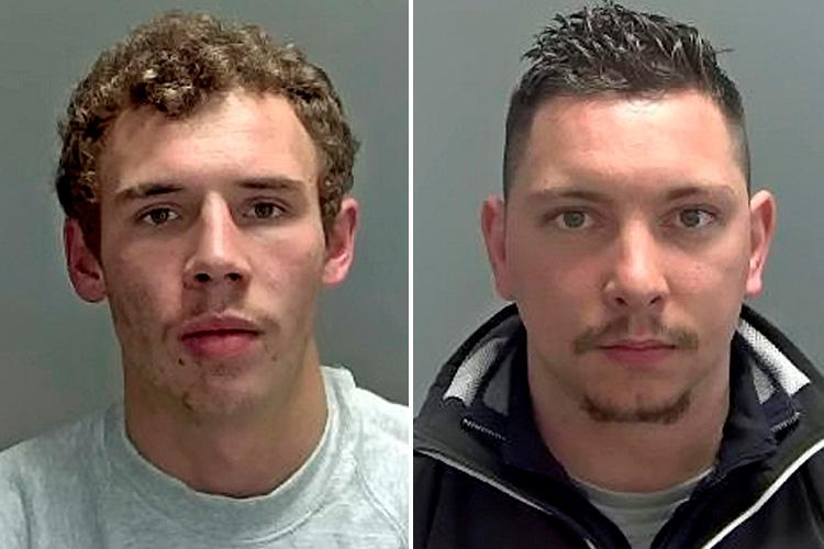 Joe John Spencer Loveridge, left, was jailed for four years and Richard Oakley, right, Suffolk was jailed for five years