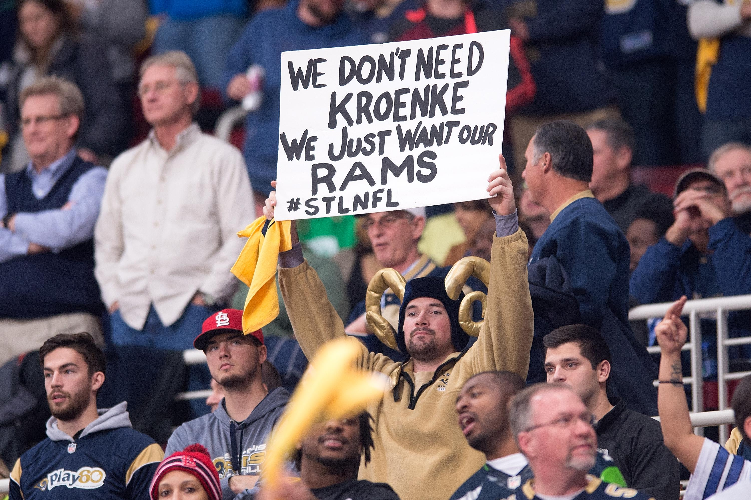 St Louis fans were left furious when the team was moved to Los Angeles