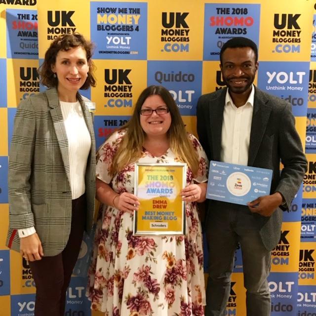 Emma has won awards for her blog at the UK Money Bloggers' Awards