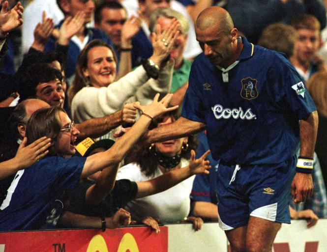 Gianluca Vialli arrived at Chelsea just after winning the Champions League with Juventus and made an immediate impact