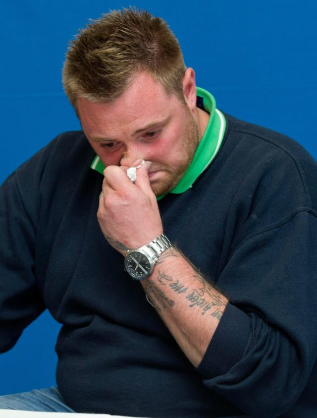 Amber's stepdad Danny Peat breaks down as the family appeal for information in 2015