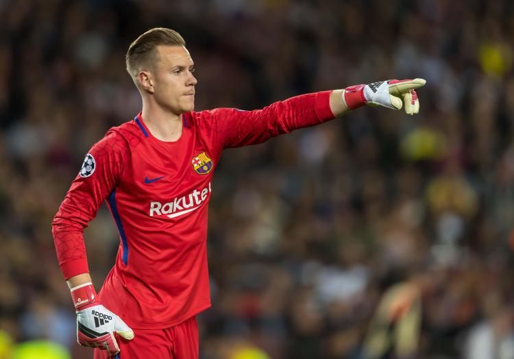 Marc-Andre ter Stegen has been named Uefa's best goalkeeper of the year