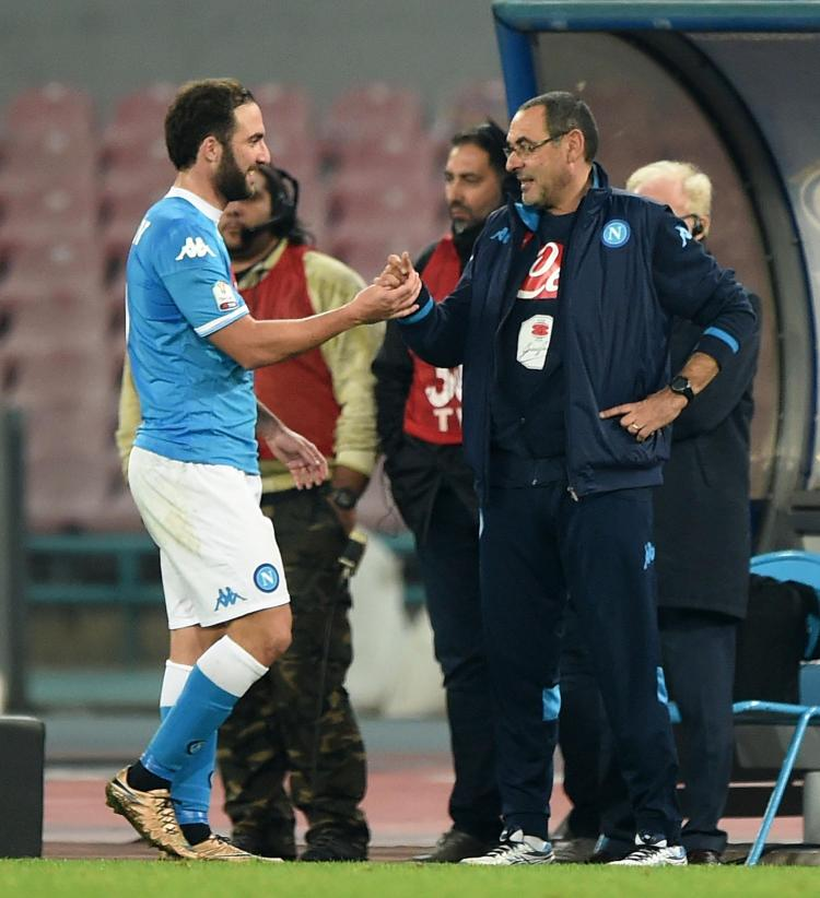 Chelsea hope to reunite Higuain with boss Maurizio Sarri after they worked so well together at Napoli