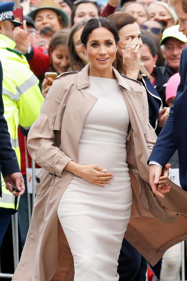 Meghan is often spotted holding her bump