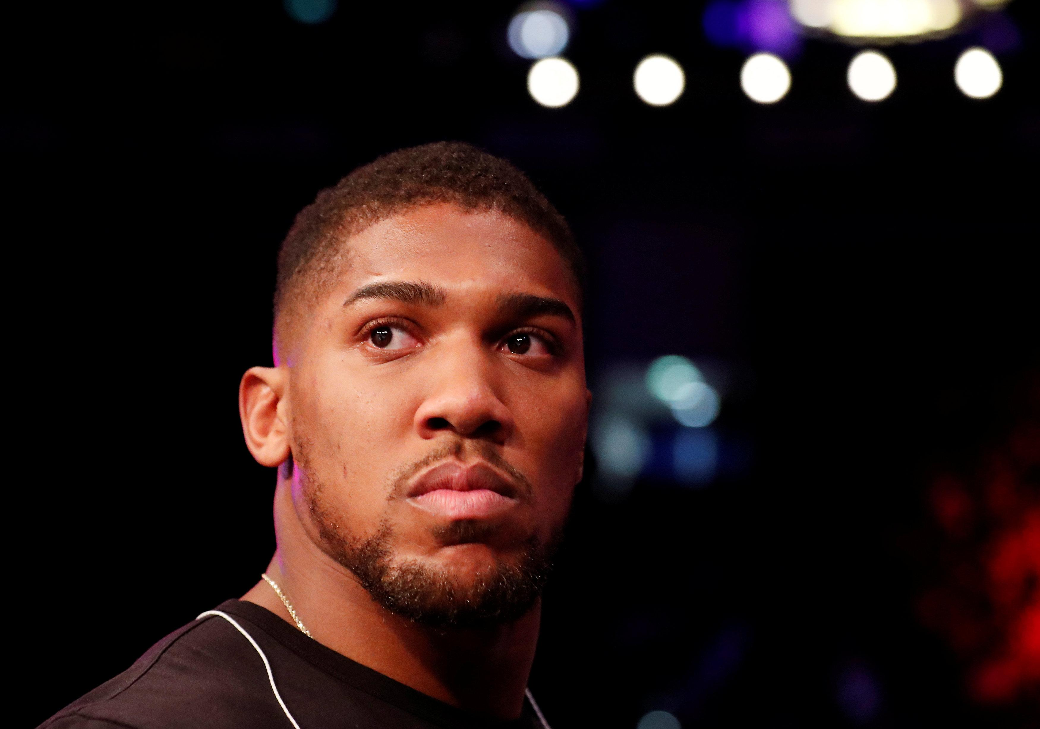 Anthony Joshua is yet to confirm who his next opponent will be at Wembley on April 13