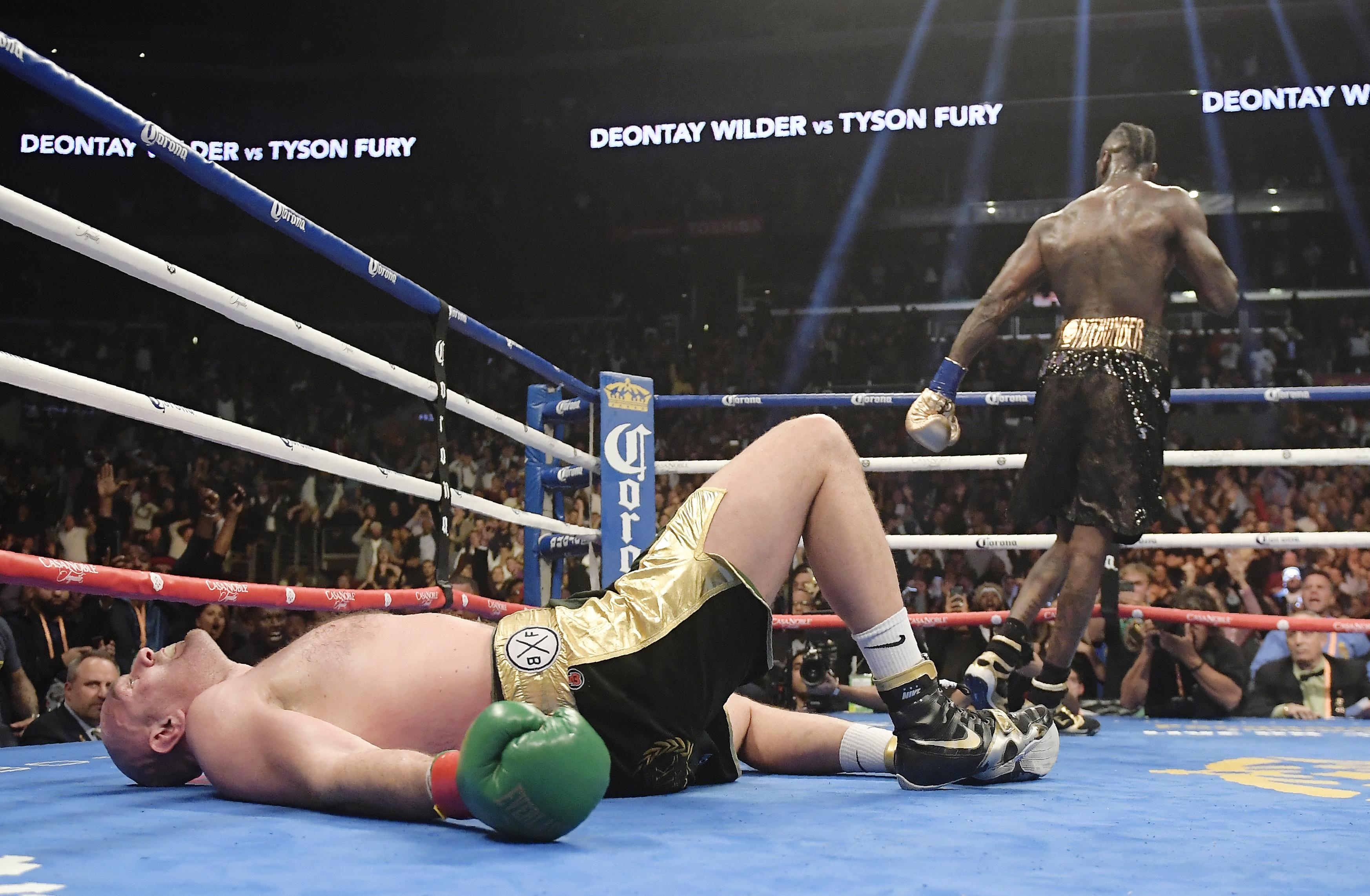 Wilder dropped Fury twice, with the Brit rising from the canvas in the final round to avoid defeat