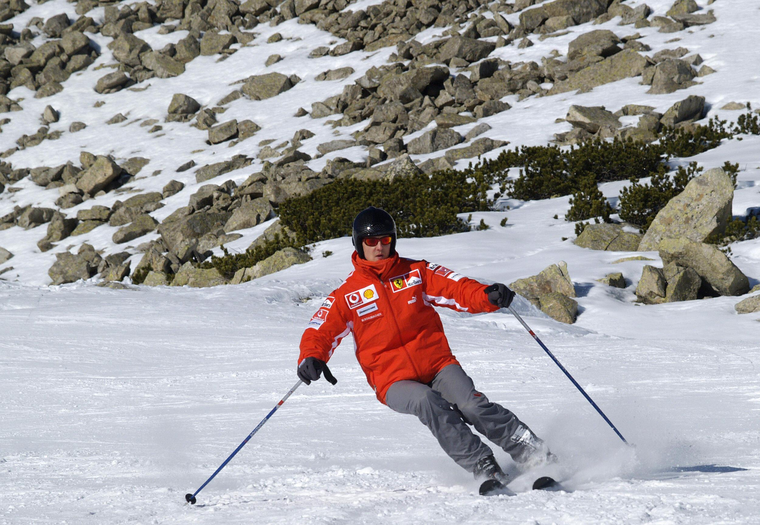 Schumacher, an avid skier, hit his head on rocks on December 29, 2013 as he was skiing with his son Mick