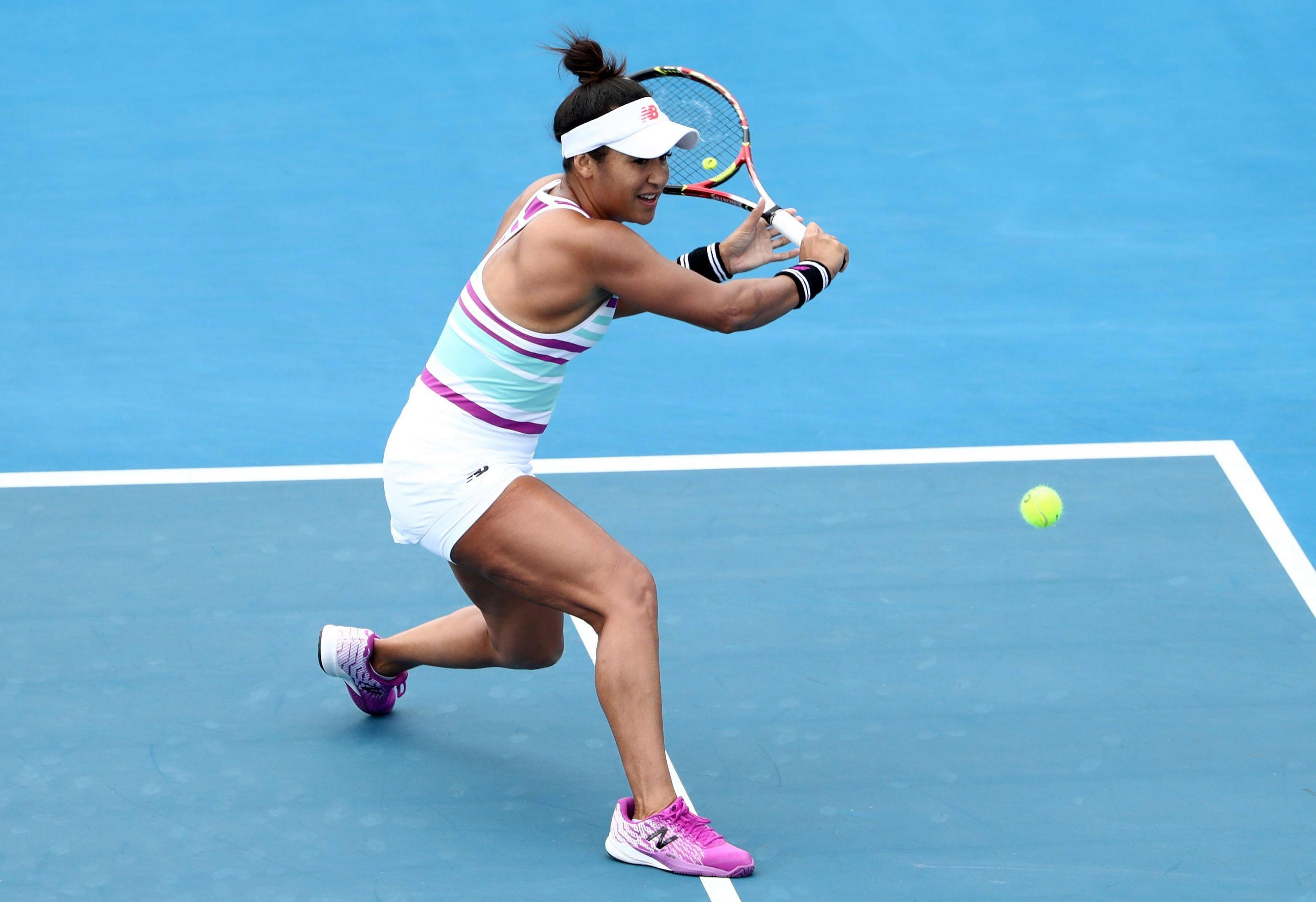 Heather Watson qualified for the main draw of the Hobart International after a 6-4 6-4 win over Isabelle Wallace