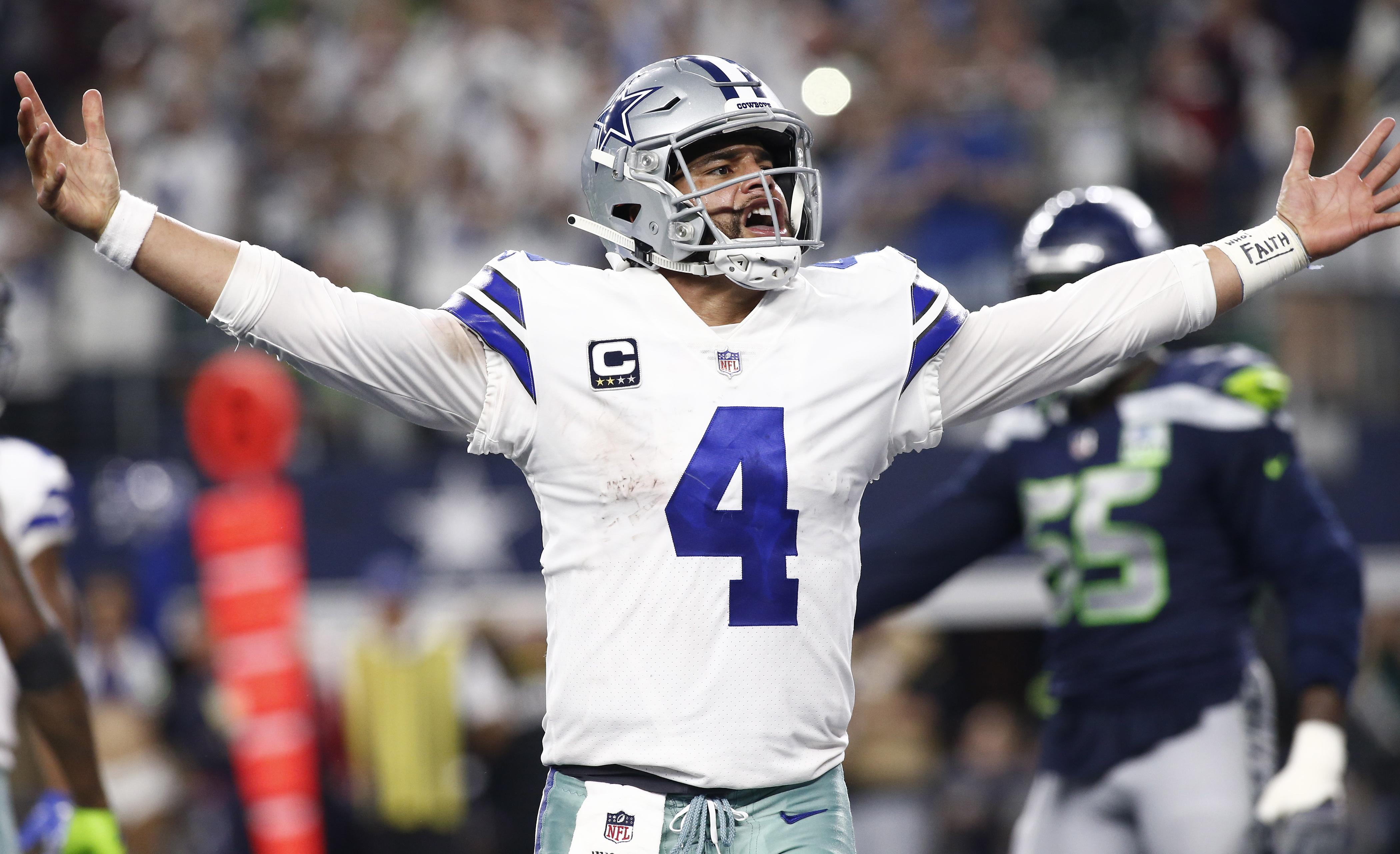 The Dallas Cowboys beat the Seattle Seahawks in their Wild Card game