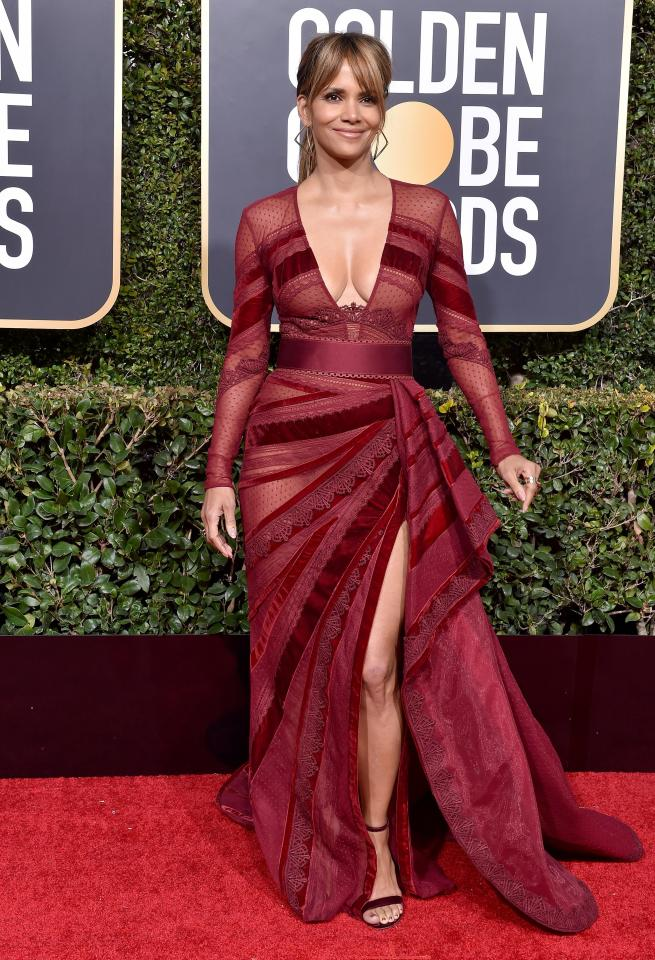 Halle Berry looked incredible at the Golden Globes