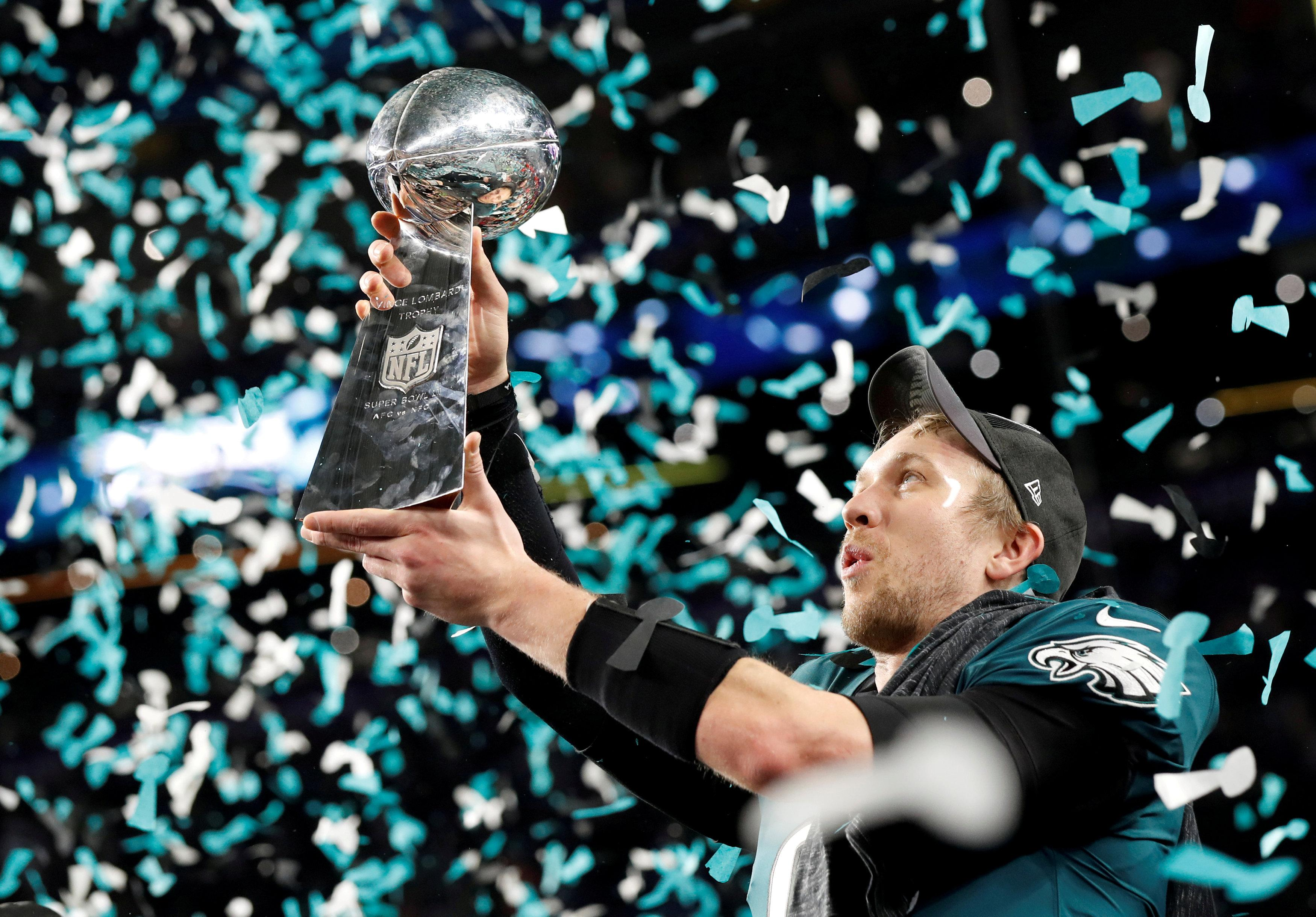 The Eagles are looking to retain the Vince Lombardi Trophy after beating New England Patriots last year