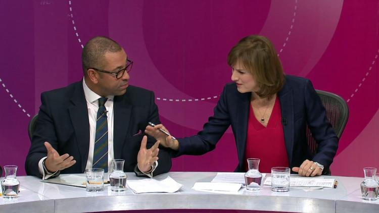 The new host interrupted Conservative James Cleverly 20 times but pro-EU Labour MP Emily Thornberry only 11