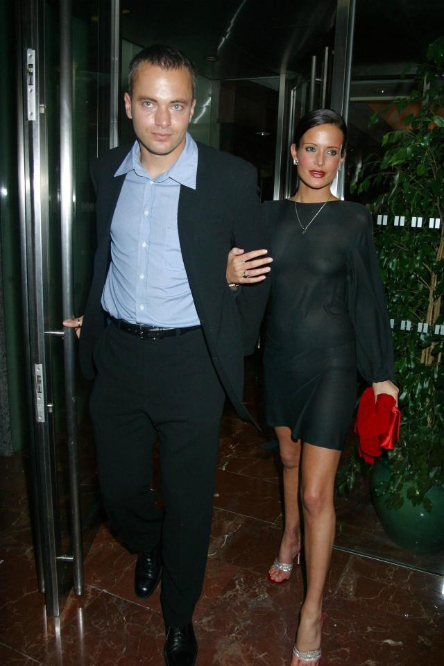 Bosnich was involved in a fiery relationship with supermodel Sophie Anderton