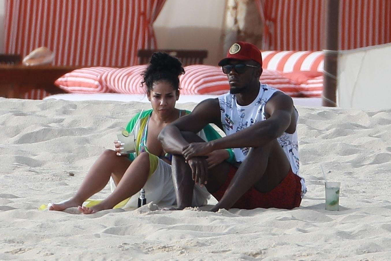 Usain Bolt and his girlfriend Kim enjoyed a relaxing holiday to Mexico