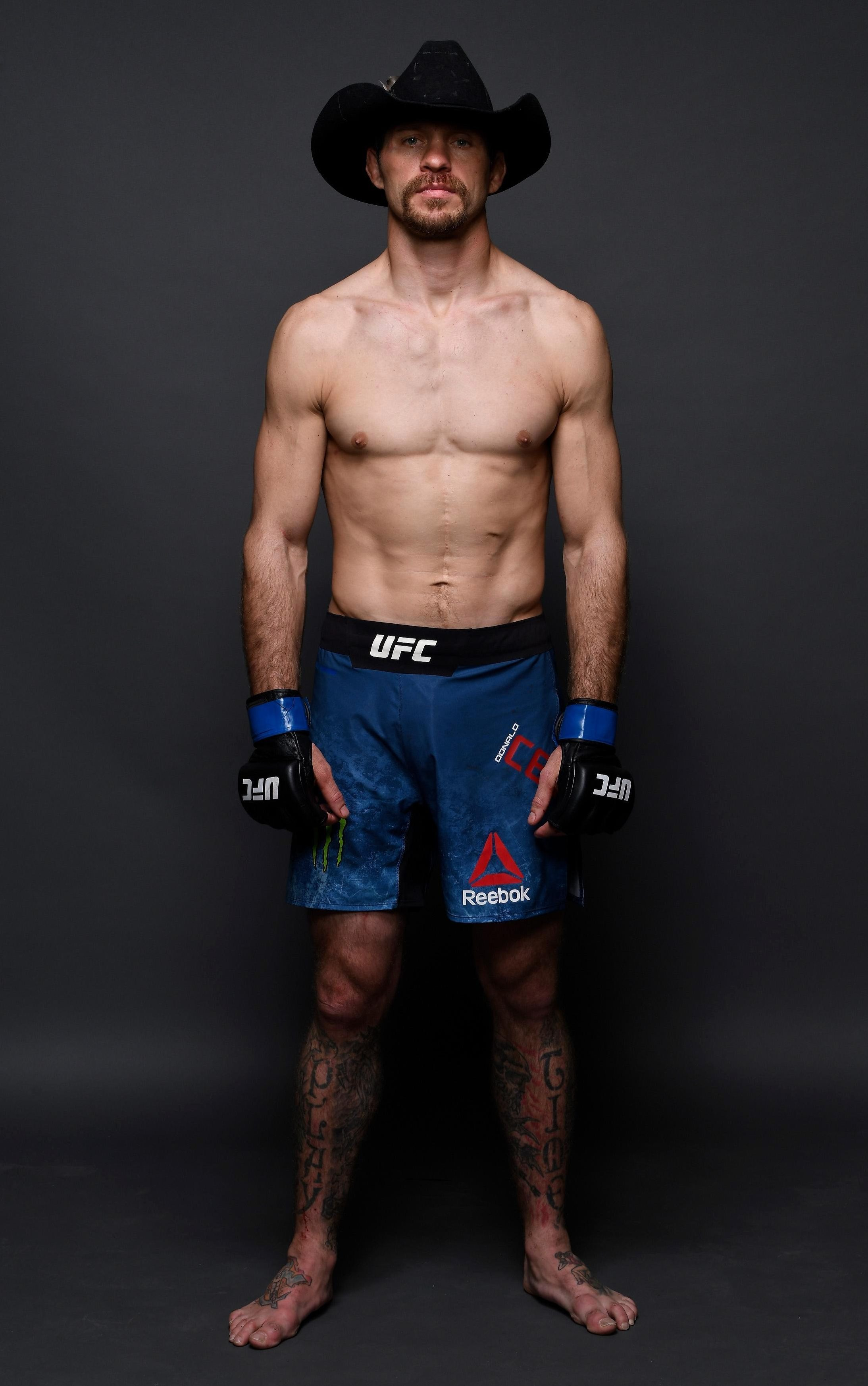 Donald 'Cowboy' Cerrone, above, once again called for a fight against Notorious after he defeated Alexander Hernandez on Saturday