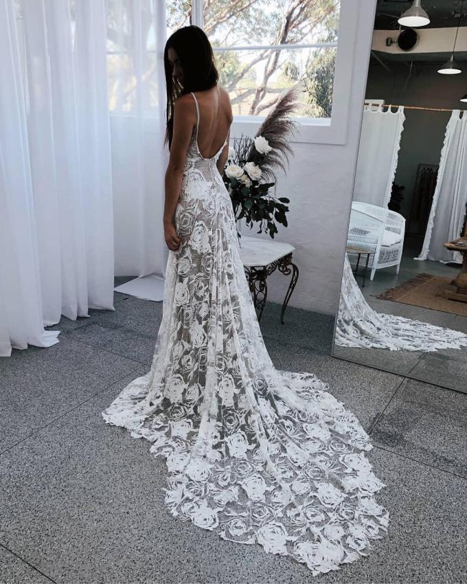 naked' wedding dresses are the most daring trend for brides