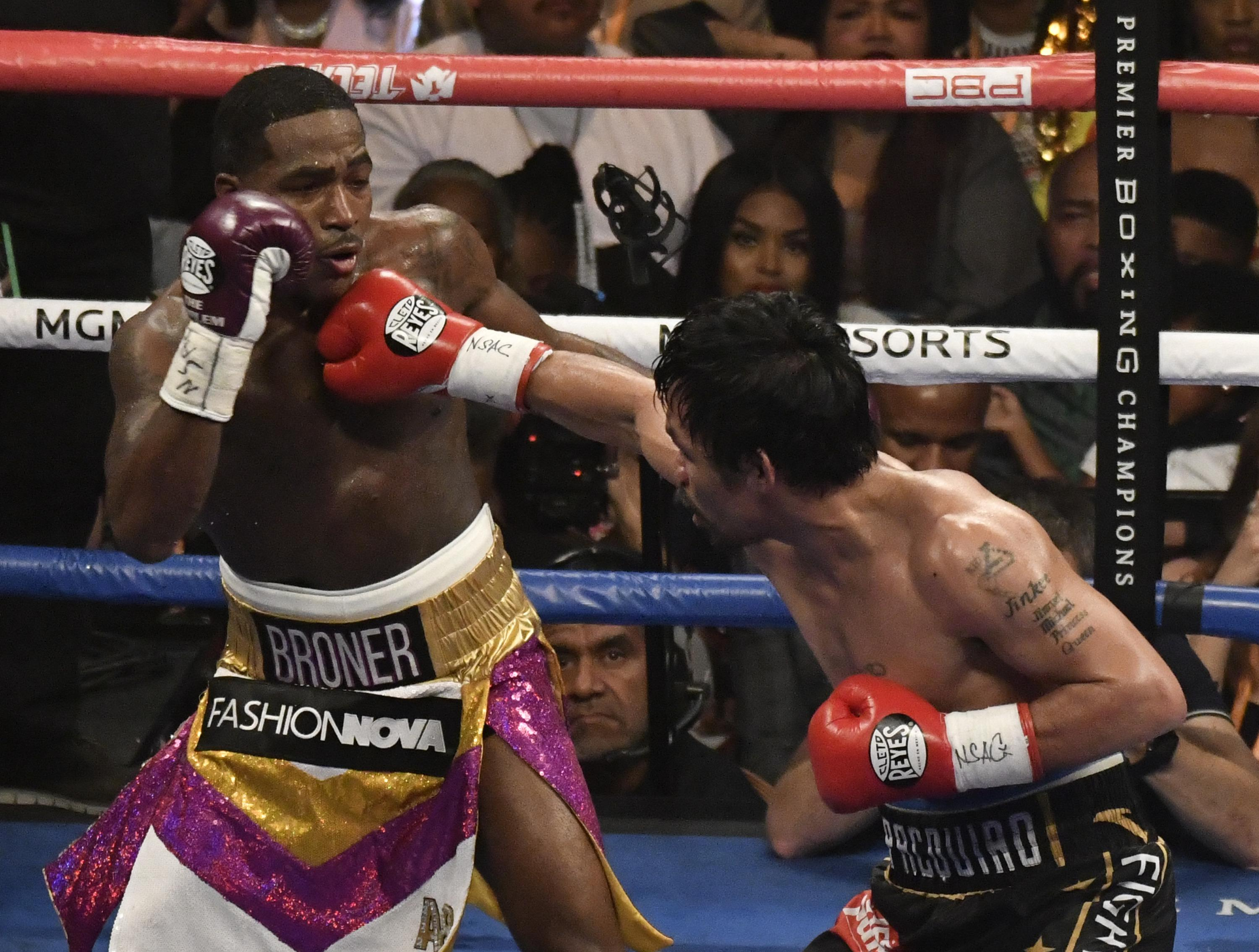 Adrien Broner was defeated by Manny Pacquiao on Saturday night