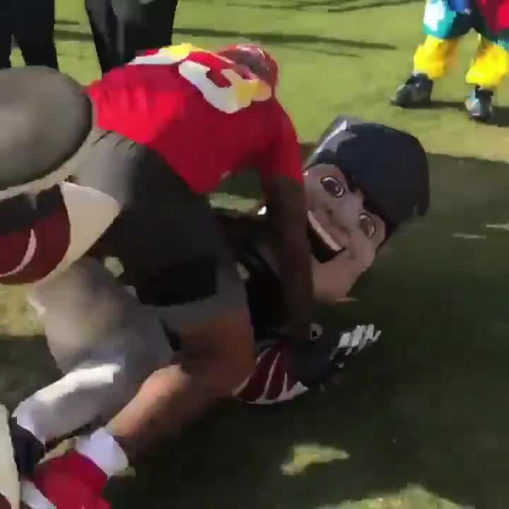 Jamal Adams sent a mascot to hospital after a crunching tackle