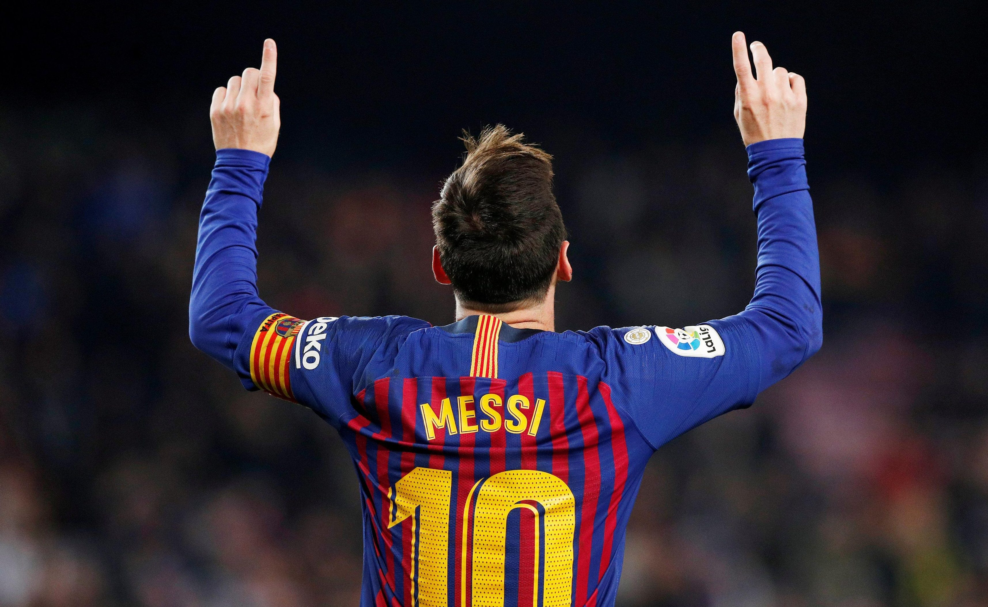 Lionel Messi will hope to extend Barcelona's lead the the top of La Liga