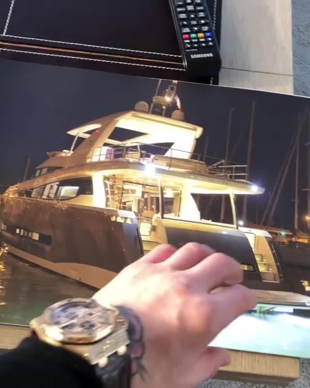 Conor McGregor shows off plans for his amazing £3million new yacht
