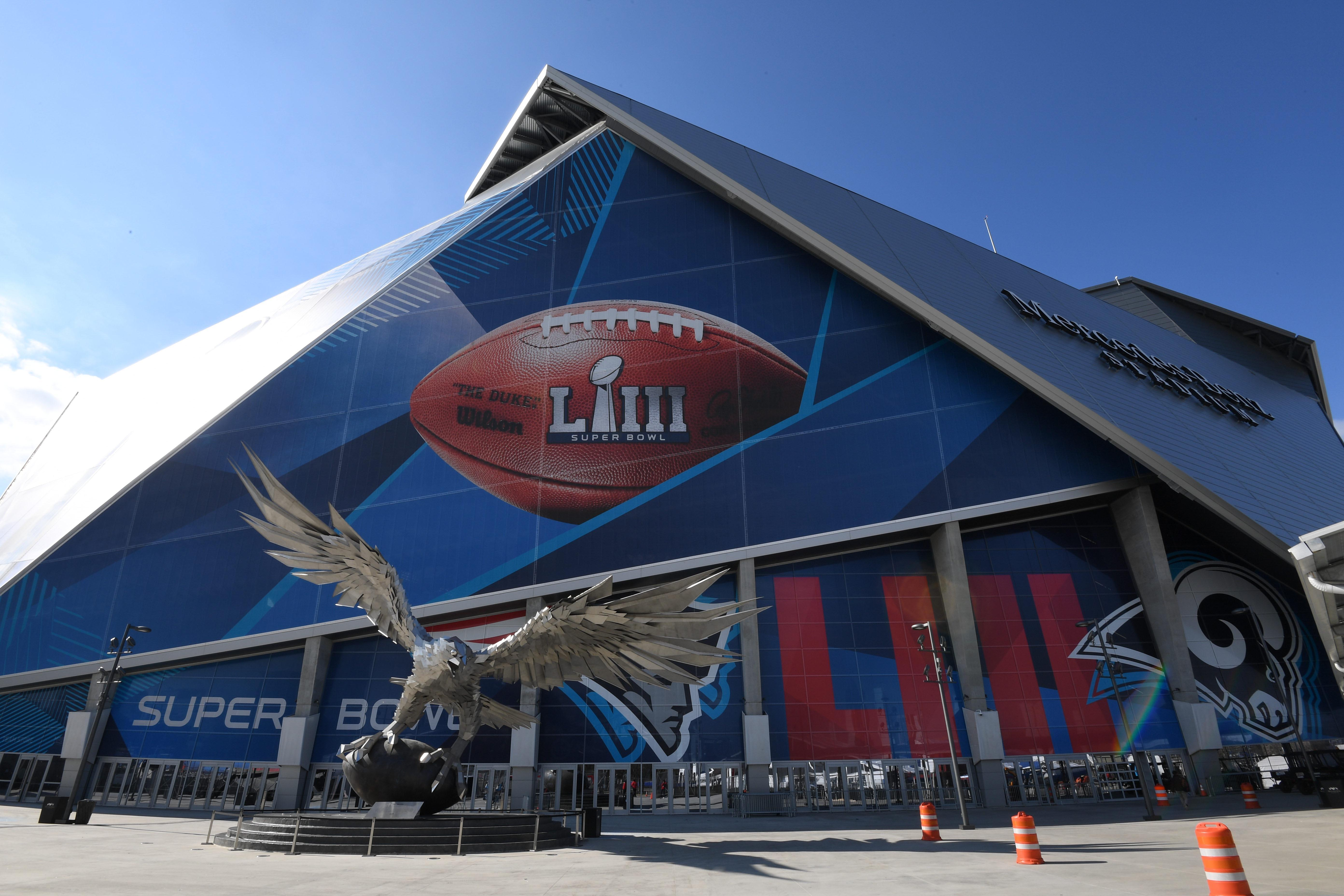 Mercedes Benz Stadium in Atlanta is gearing up to host Super Bowl 53 on Sunday