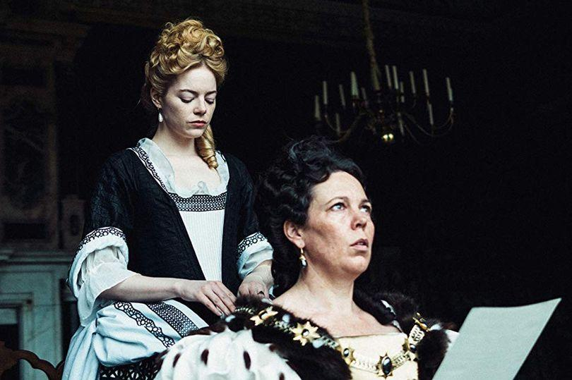Queen Anne stars Emma Stone and Olivia Colman, who have described their sex scenes in the comedy