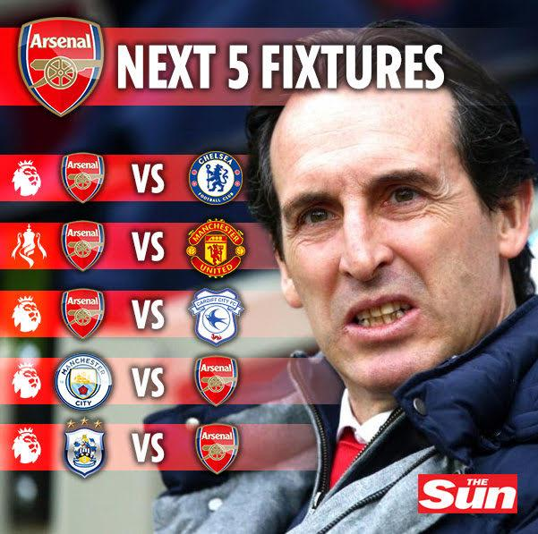 Unai Emery will need to pull out all the stops to navigate Arsenal's trickiest run of fixtures