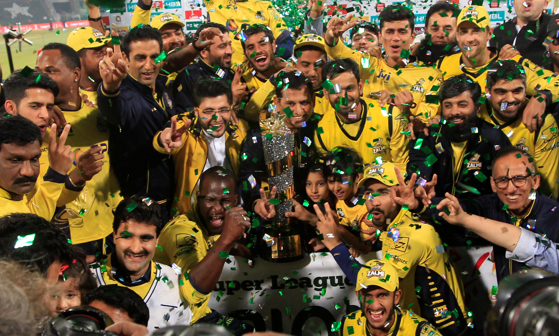 Peshawar (above) won the 2017 title but were beaten by Islamabad in last year's final