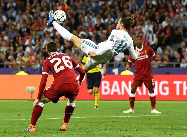 Gareth Bale was playing angry when he scored his overhead kick in the CL final