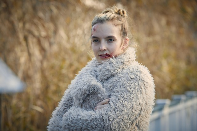 Jodie Comer plays Villanelle in Killing Eve