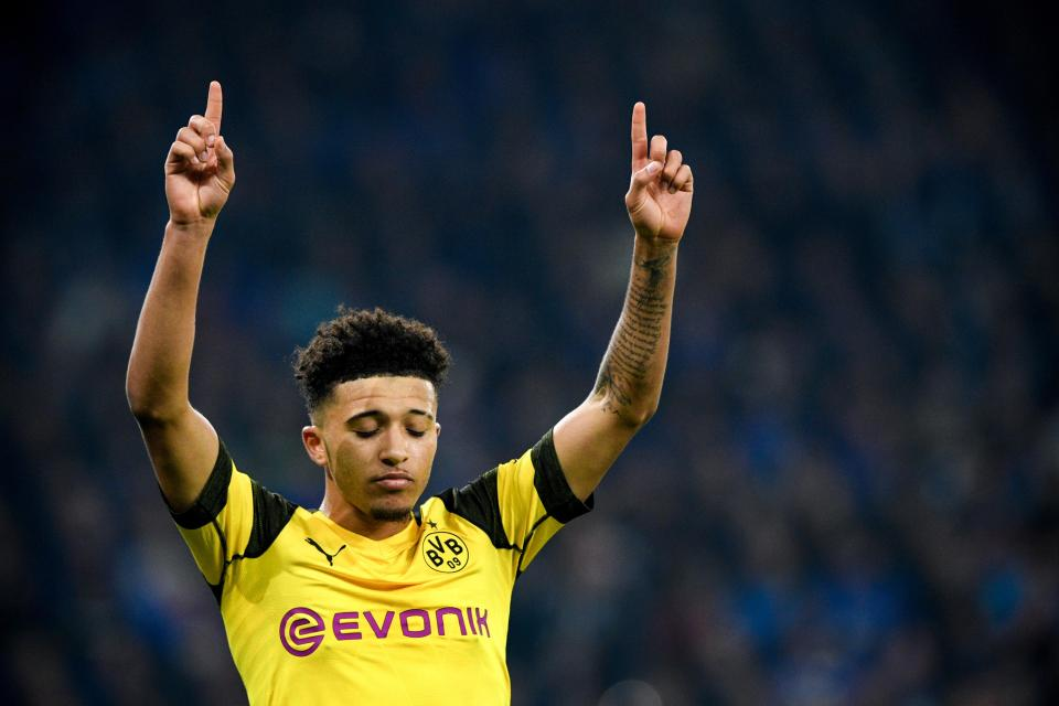 Jadon Sancho shed a tear after scoring against Schalke