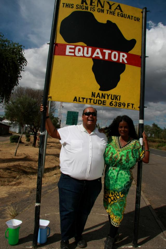 Michael with Martina, who says she likes the dry hot climate near the equator
