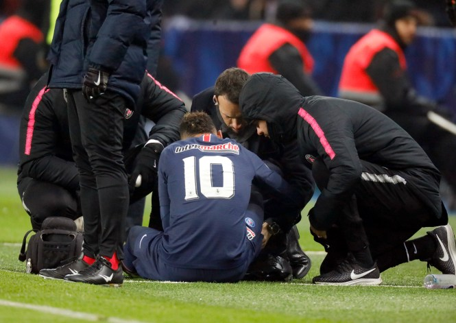 Neymar is unlikely to be back for the second leg at the Parc des Princes on March 6