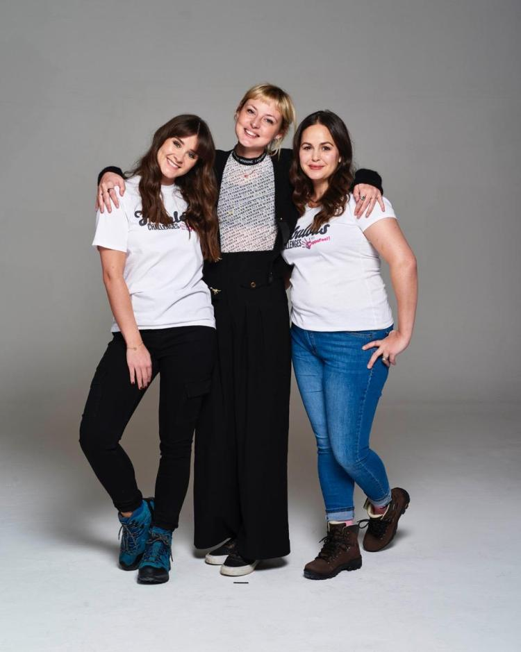 CoppaFeel! founder Kris Hallenga with Giovanna Fletcher and Brooke Vincent