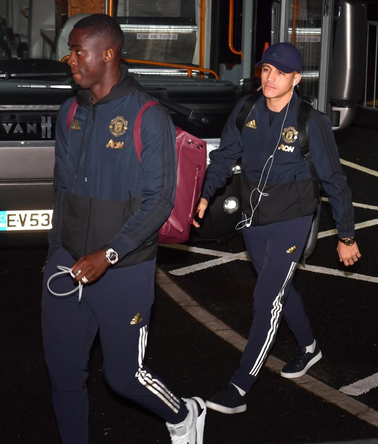 Alexis Sanchez and Eric Bailly both face being left on the bench against PSG