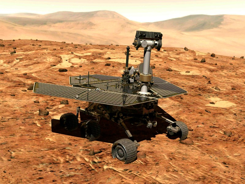 The rover was sent to Mars in 203 and landed on the Red Planet in 2004
