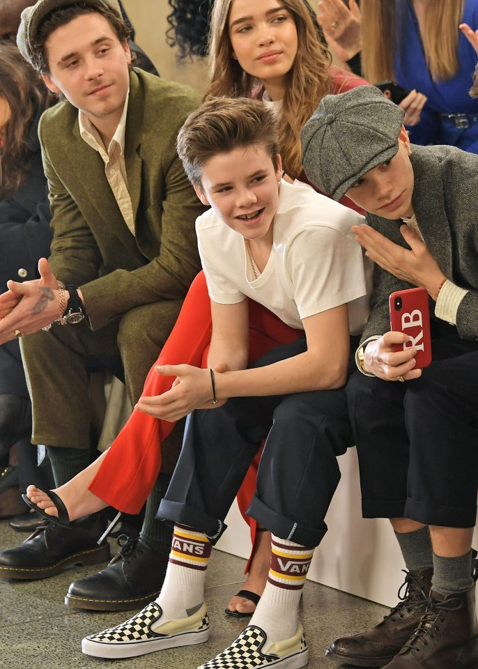 David Beckham S Sons Brooklyn And Romeo Channel Peaky