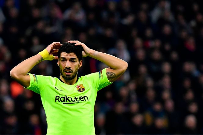 Luis Suarez is still yet to score in the Champions League this season, incredibly, and went close twice in France